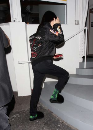 Kendall Jenner at a restaurant in Los Angeles