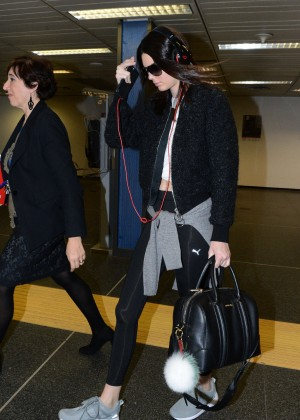 Kendall Jenner at Airport in Milan