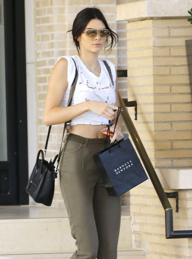 Kendall Jenner at Barney's in Los Angeles