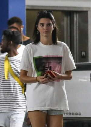 Kendall Jenner at Best Buy in West Hollywood