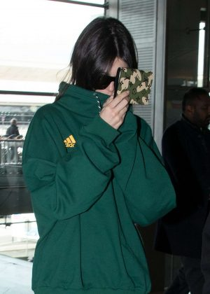 Kendall Jenner at Charles-de-Gaulle Airport in Paris