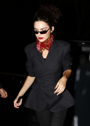Kendall Jenner at Four Seasons Hotel George V in Paris