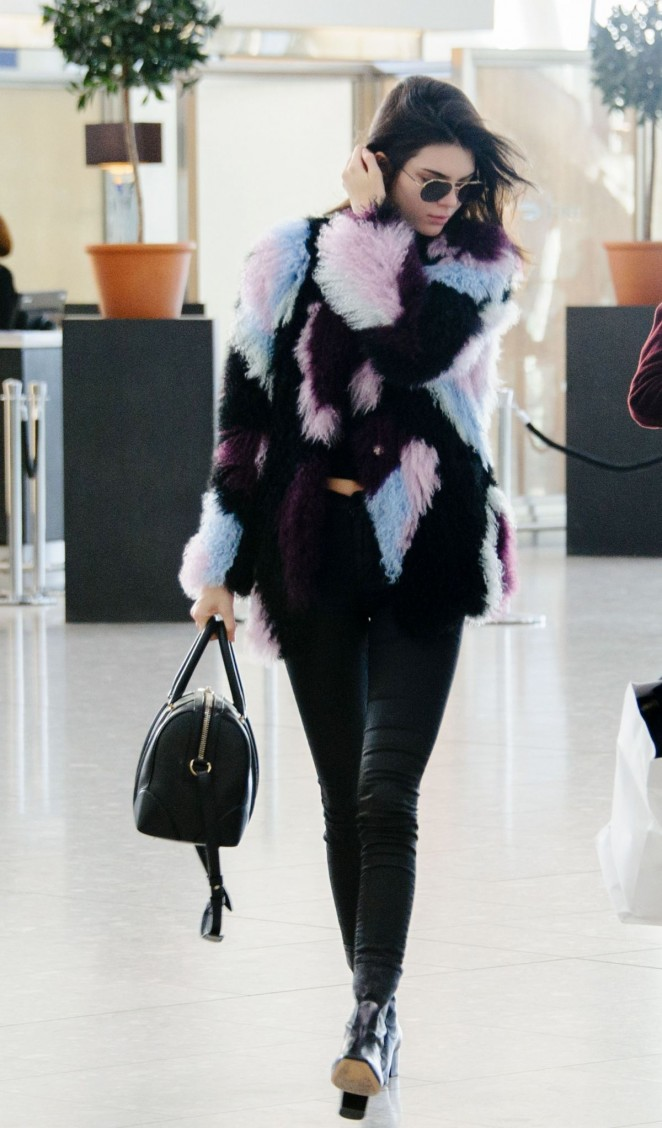 Kendall Jenner At Heathrow Airport In London