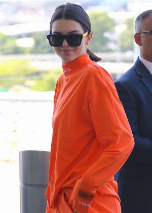 Kendall Jenner at JFK Airport in NYC