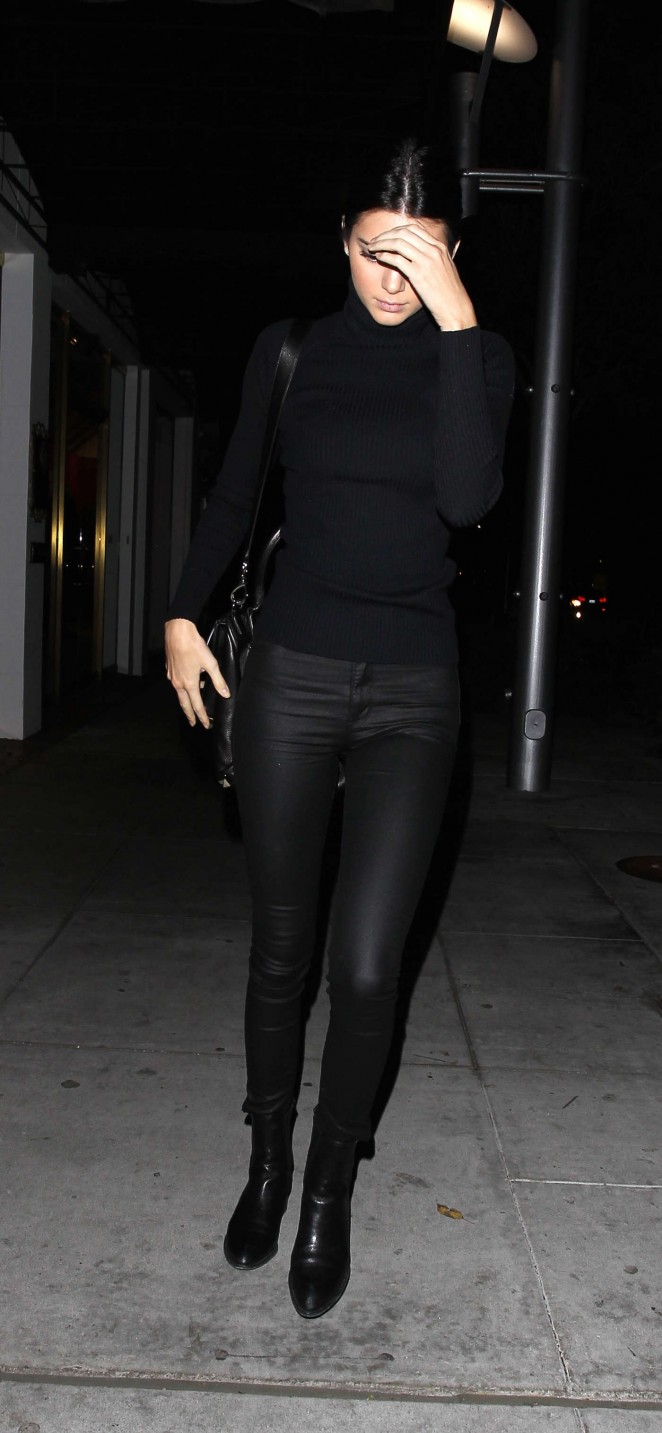 Kendall Jenner at Mastros Steakhouse -01