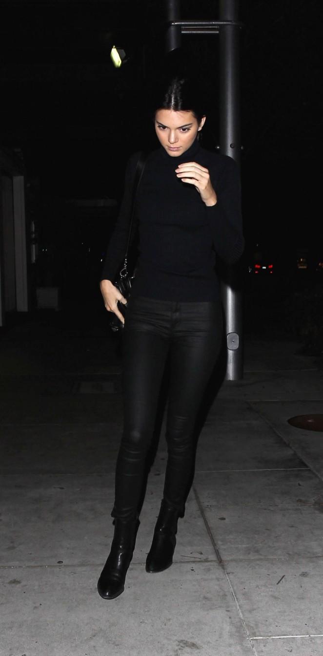 Kendall Jenner at Mastros Steakhouse -02