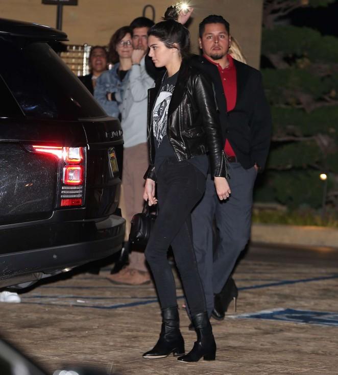 Kendall Jenner at Nobu Restaurant in Malibu