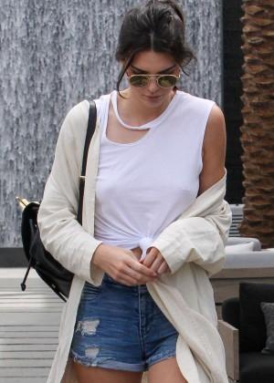 Kendall Jenner at Restoration Hardware Modern in West Hollywood