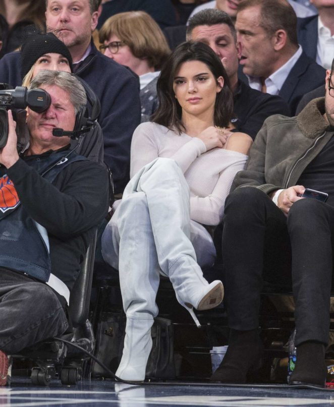 Kendall Jenner at the New York Knicks vs LA Clippers in NYC