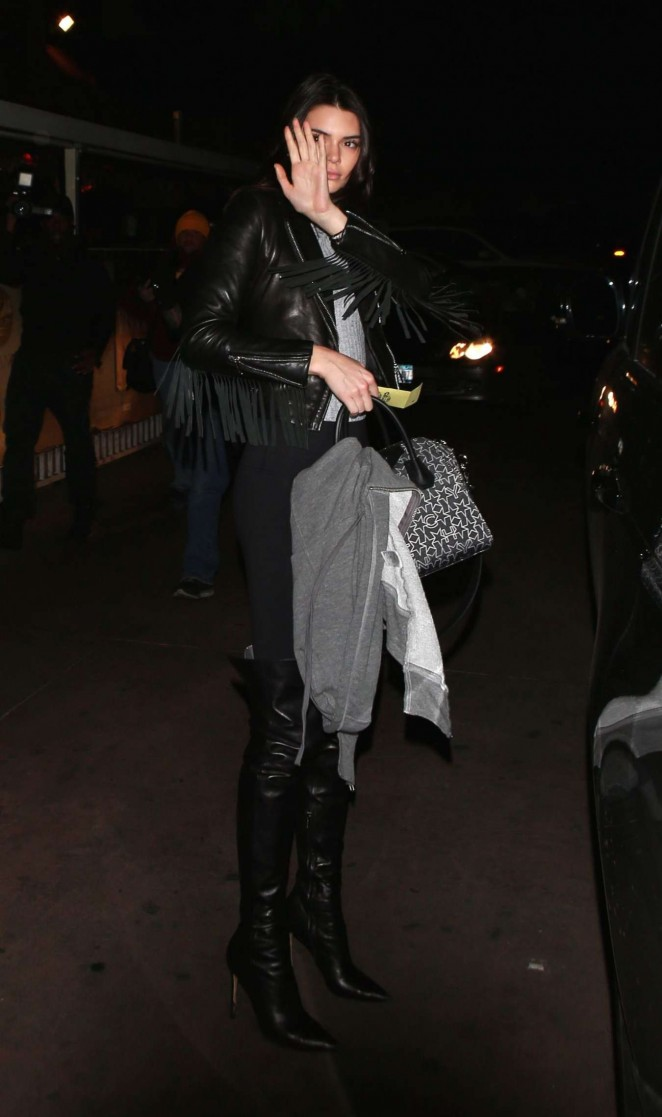 Kendall Jenner at the Roxy Nightclub in West Hollywood
