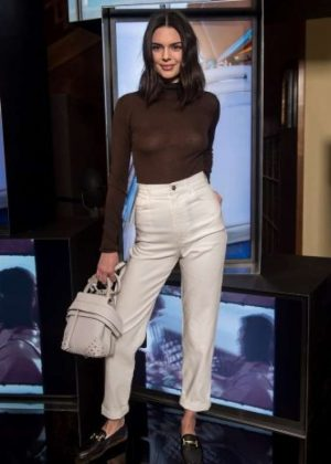 Kendall Jenner at Tod's Spring 2018 Campaign Launch Party in Milan