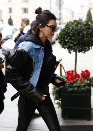 Kendall Jenner at Travis Scott photo studio 'Rouchon' in Paris