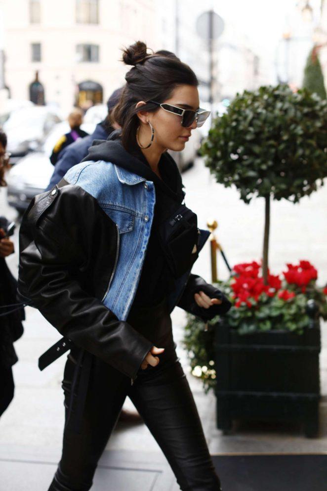 Kendall Jenner at Travis Scott photo studio 'Rouchon' in Paris