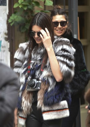 Kendall Jenner at Zuma Sushi Restaurant in Rome
