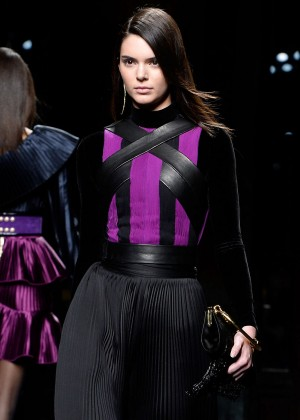 Kendall Jenner - Balmain 2015 Fashion Show in Paris