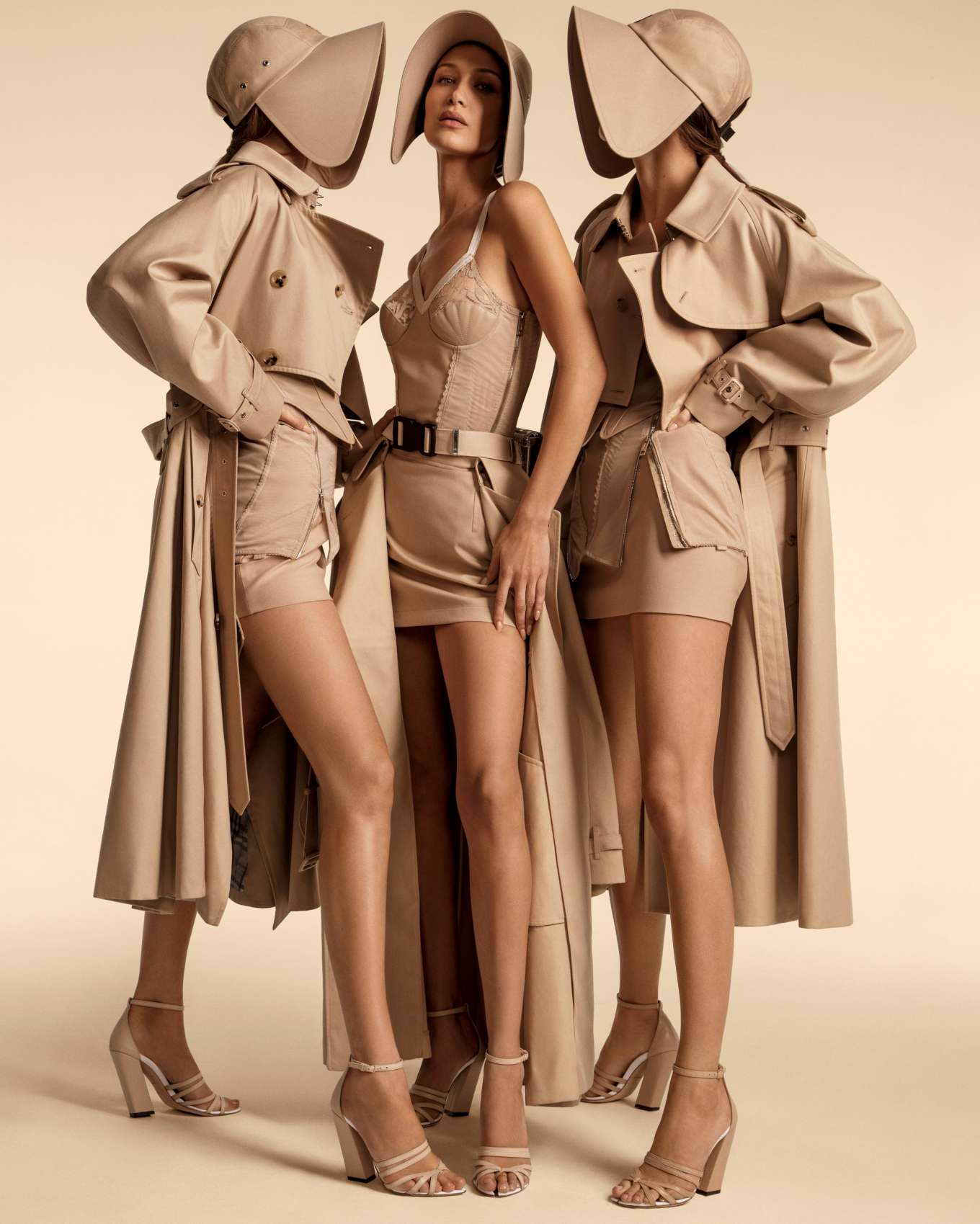 Kendall Jenner, Bella and Gigi Hadid - Burberry Spring/Summer Campaign 2020