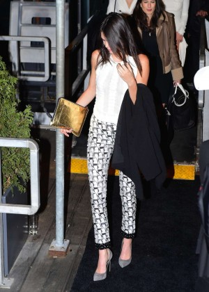 Kendall Jenner - Deboarding Karl Lagerfeld Cruise in NY