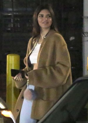 Kendall Jenner - Dines out with her friend DJ Daniel Chetrit in West Hollywood