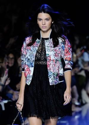 Kendall Jenner - Elie Saab Runway at Paris Fashion Week SS 2016