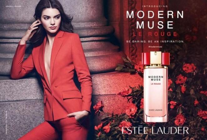 Kendall Jenner - Estee Lauder 'Modern Muse Le Rouge' Fragrance Ad