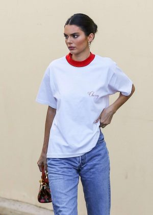 Kendall Jenner - Exits studio in Los Angeles