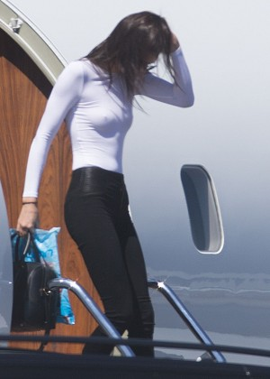 Kendall Jenner: Getting off a private jet -05