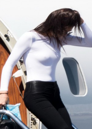 Kendall Jenner: Getting off a private jet -10