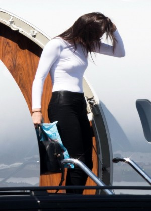 Kendall Jenner: Getting off a private jet -22