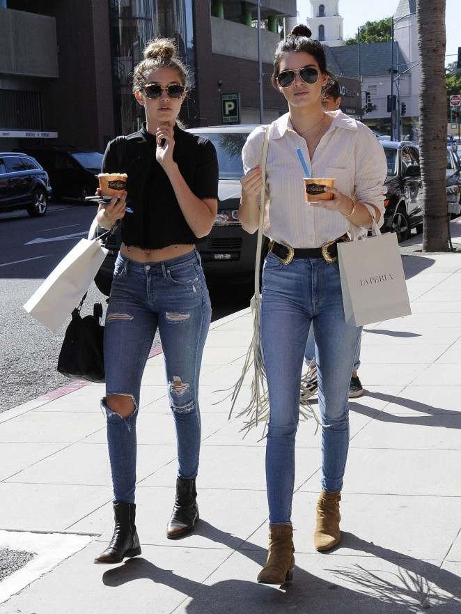 Kendall Jenner & Gigi Hadid – Out and about in Beverly Hills