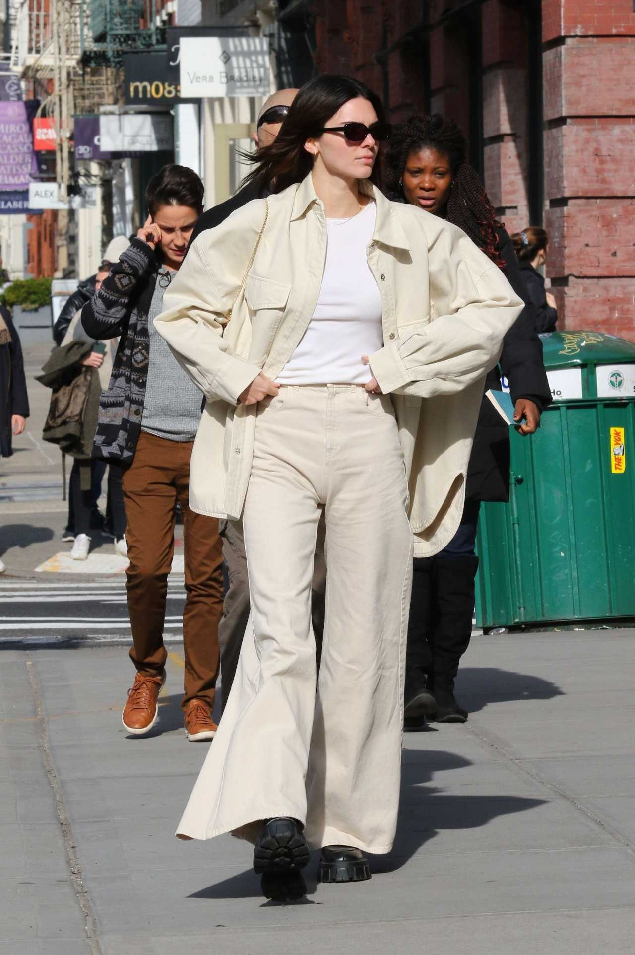 Kendall Jenner 2020 : Kendall Jenner – Goes for a walk with friends after lunch in New York-04
