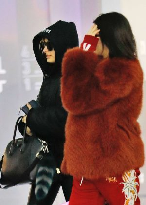 Kendall Jenner & Hailey Baldwin at JFK Airport in NYC