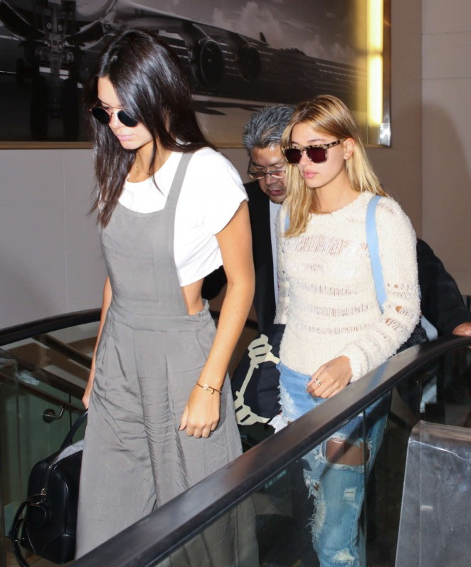 Kendall Jenner & Hailey Baldwin - LAX Airport in LA