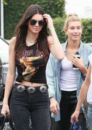Kendall Jenner & Hailey Baldwin in Tight Jeans Out in West Hollywood
