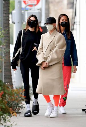 Kendall Jenner, Hailey Bieber and Sofia Villarroel - leaving a medical building in Beverly Hills