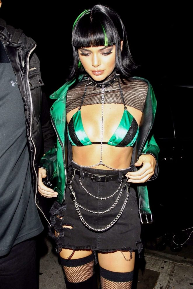Kendall Jenner - Halloween party at Delilah in West Hollywood