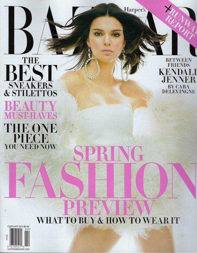 Kendall Jenner - Harper's Bazaar Magazine (February 2018) adds