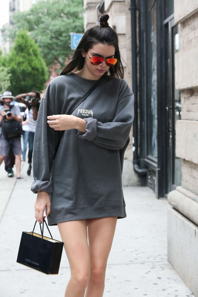 Kendall Jenner in Short Dress out in NYC