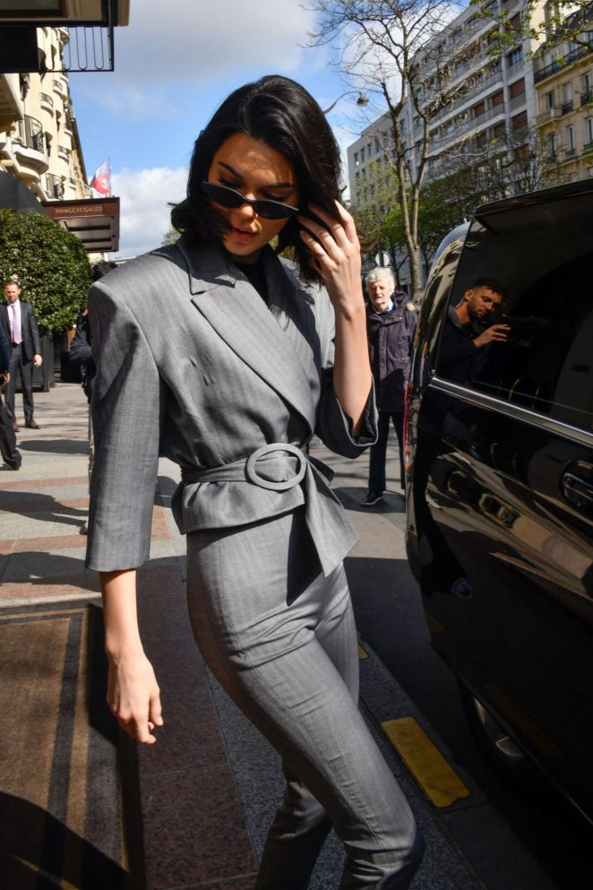 Kendall Jenner – Heads to Adidas store in Paris