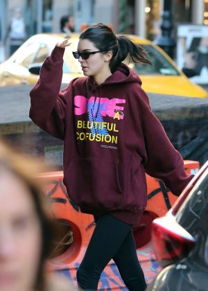 Kendall Jenner - Heads to the gym in New York City