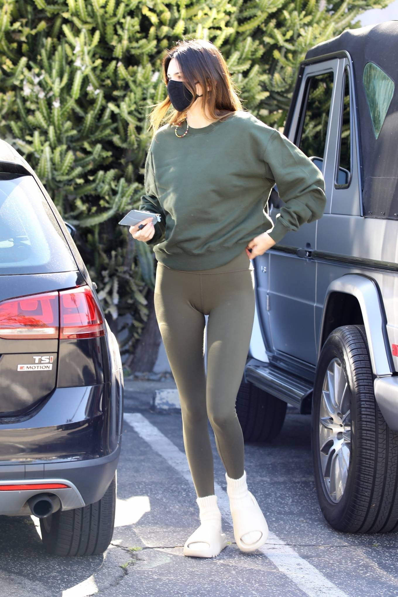 Kendall Jenner - In a leggings with a friends in West Hollywood