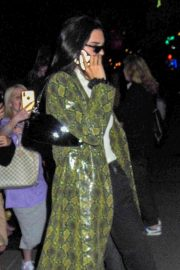 Kendall Jenner in Animal Print Coat - Out in New York