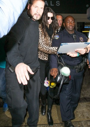 fb8128122f18 Kendall Jenner in Animal Print Jacket at LAX in LA. ShareTweetFeed