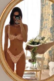 Kendall Jenner in Bikini in front of a mirror