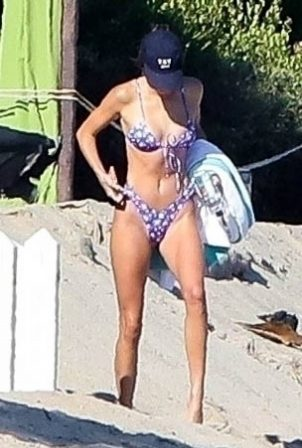 Kendall Jenner in Bikini on the beach in Malibu