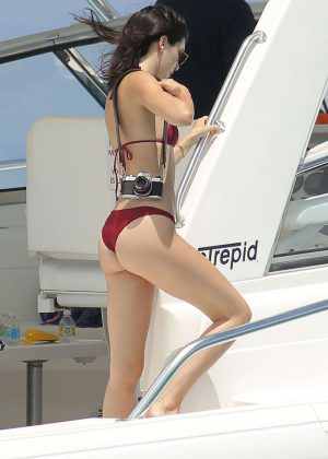 Kendall Jenner in Bikini on the beach  in Turks and Caicos