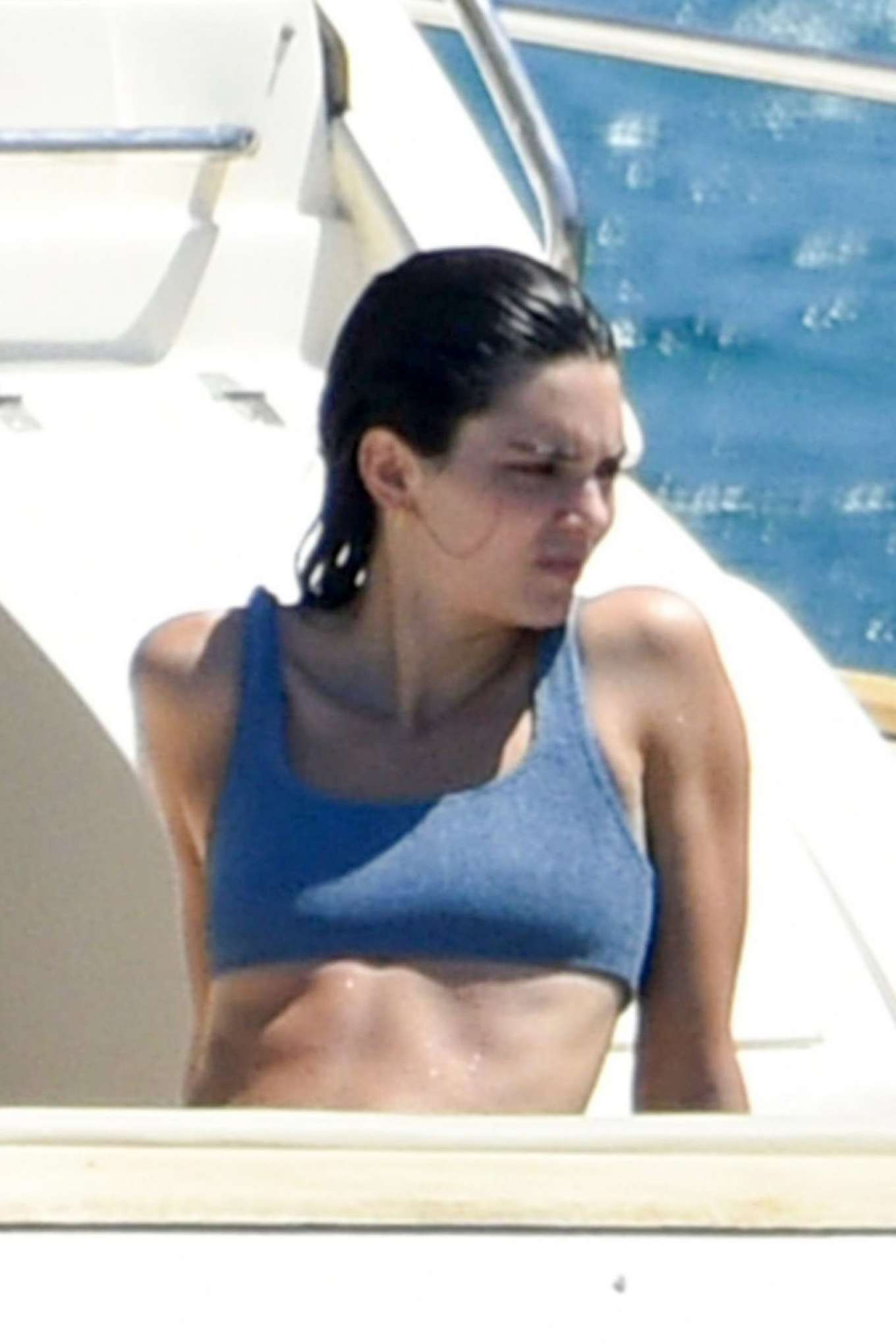 Kendall Jenner 2019 : Kendall Jenner in Blue Bikini 2019-03