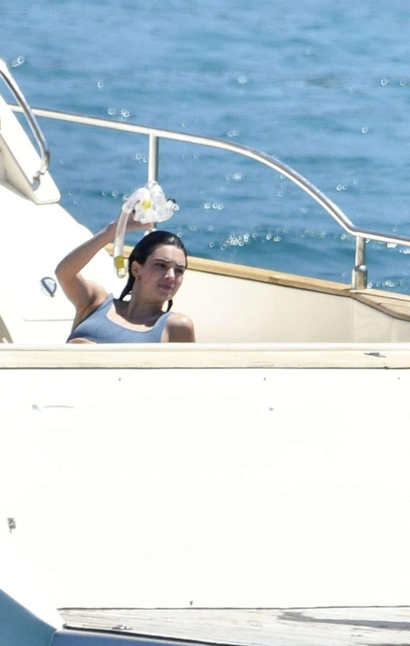 Kendall Jenner 2019 : Kendall Jenner in Blue Bikini 2019-15