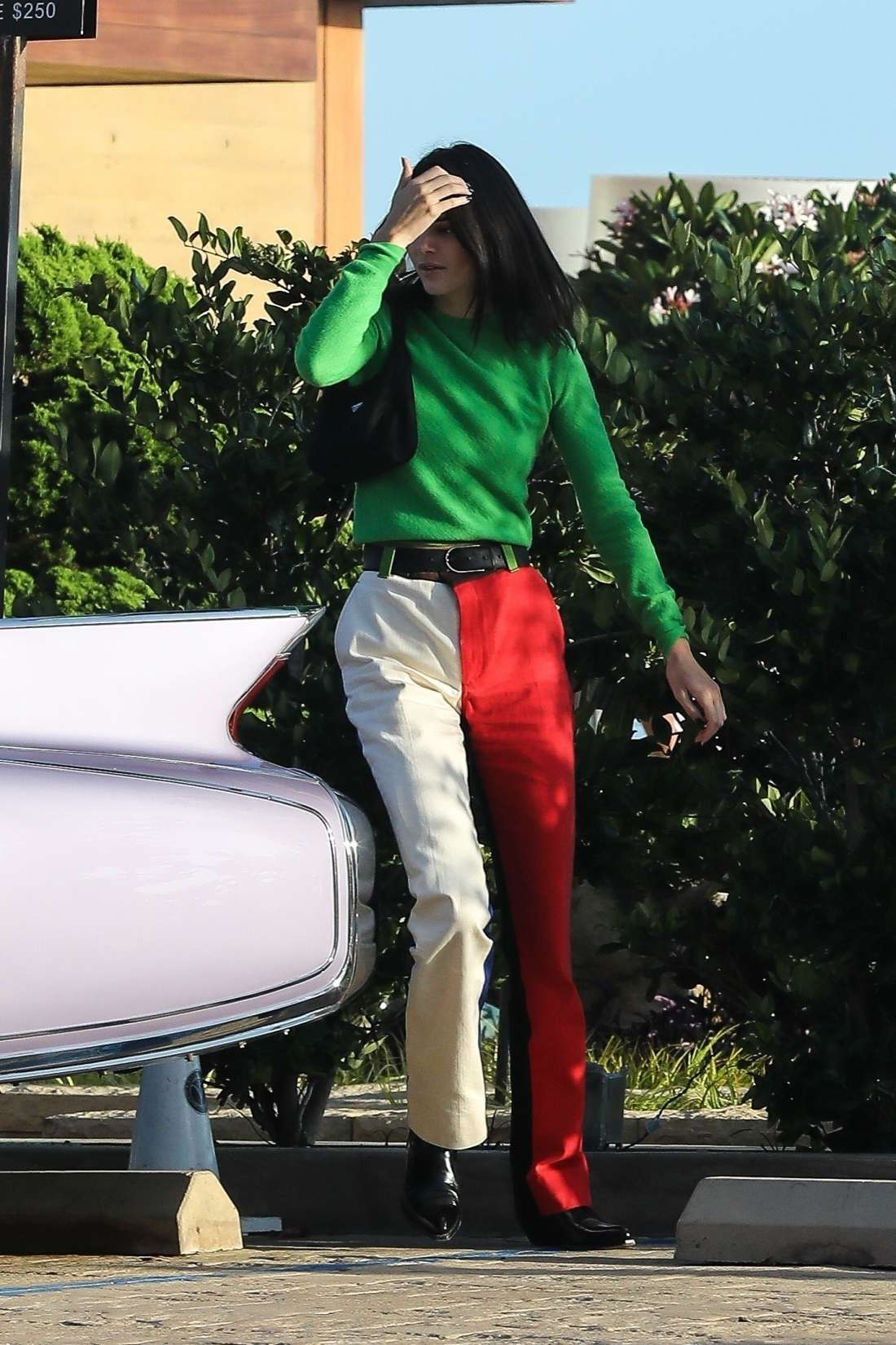 Kendall Jenner In Colorful Outfit At Nobu Restaurant In Malibu