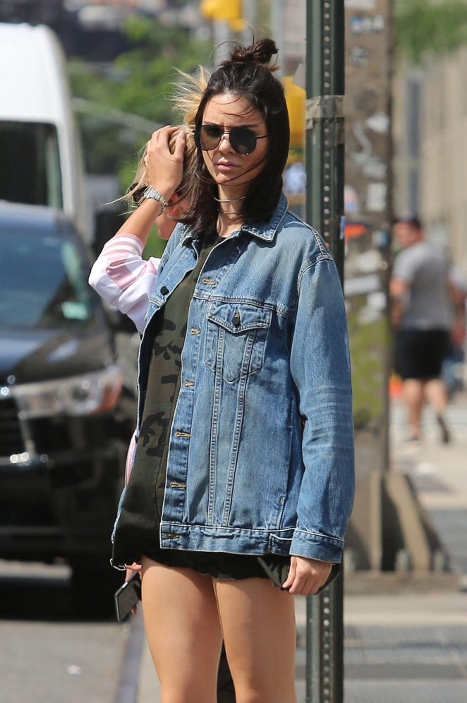 Kendall Jenner in Daisy Dukes out in NYC
