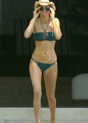 Kendall Jenner in Green Bikini in Punta Mita